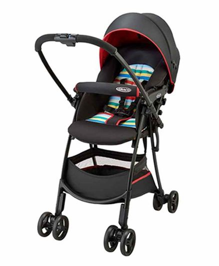 Graco Reversible Baby Stroller with Flat Recline - Red Black