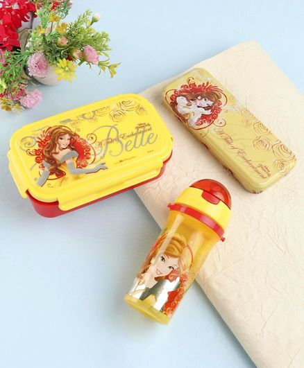 Disney Princess School Kit Pack of 3 - Red Yellow