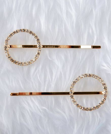 Babyhug Hair Pins Pack of 2 - Gold