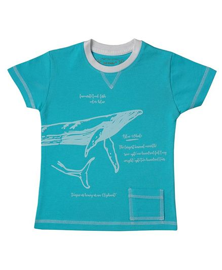Kid Studio Half Sleeve Shark Print Tee - Blue