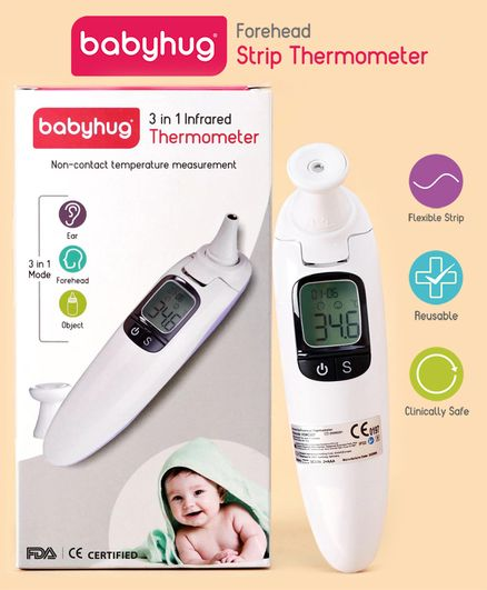 Babyhug 3 in 1 Infrared Thermometer - White