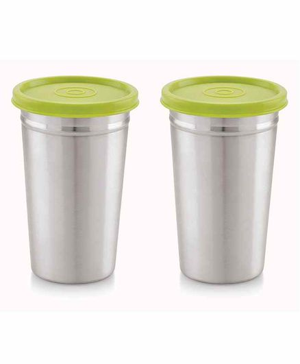 Magnus Stainless Steel Tumbler with Lid Silver Pack of 2 - 350 ml Each