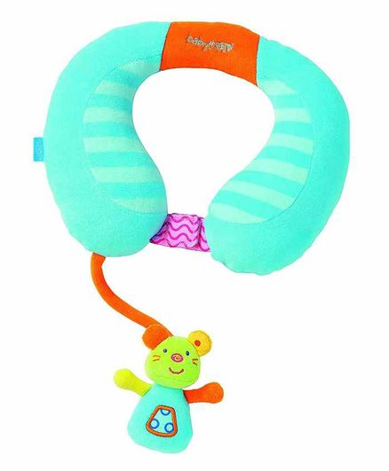 Babyfehn Neck Support with Sot Toy Attached - Blue