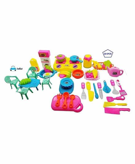 Funblast Pretend Play Kitchen Set Pack Of 50 Pieces Multicolor Online India Buy Pretend Play Toys For 3 8 Years At Firstcry Com 3534461