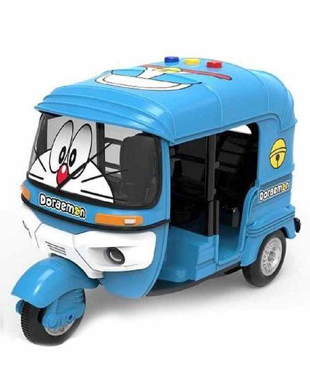 FunBlast Bump & Go Doraemon Toy Auto Rickshaw with Flashing Lights - Blue Freeoffer