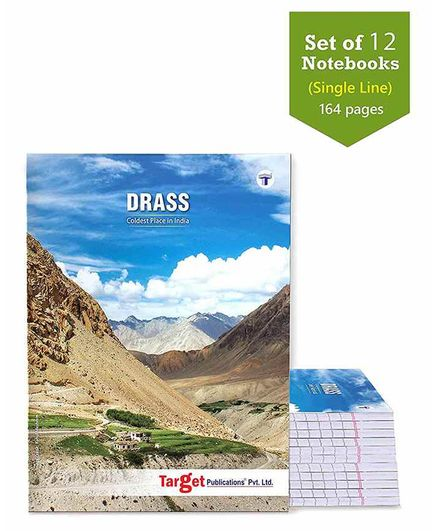 Target Publications Drass Single Line Long Notebooks Set of  12 - 164 Pages each