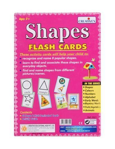 b8e11edb2 Creatives Shapes Flash Cards Online India