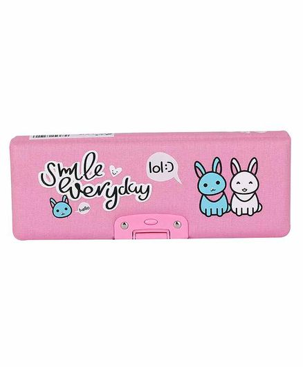Webby Bunny Printed Pencil Box - Pink