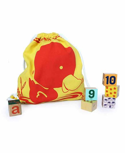 Shumee Treasure Trove Bag Duck Print - Yellow Red