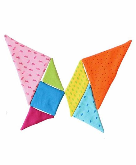 Toddler Cotton Tangram Chinese Puzzle Multicolor Set of 1 - 7 Pieces