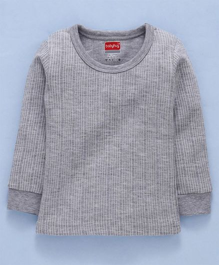 Babyhug Full Sleeves Thermal Vest - Grey