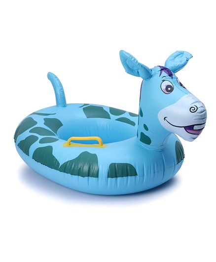 Inflatable Donkey Floating Baby Seat Ring - Blue