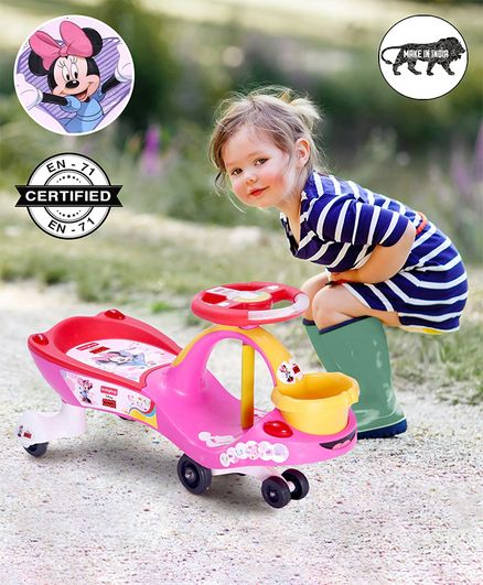 Babyhug Minni Gyro Swing Car - Pink