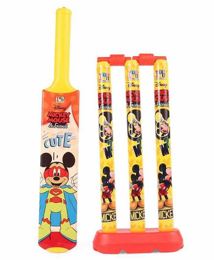 VWorld Cricket Set Kit Mickey Mouse Design (Characters and Colors May Vary)