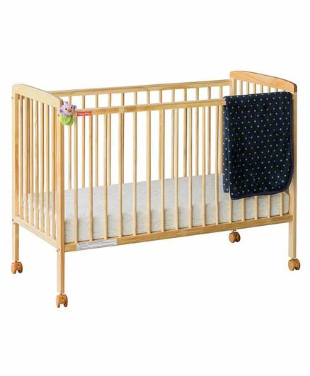 Fisher Price Joy Crib with Adjustable Mattress Base - Brown