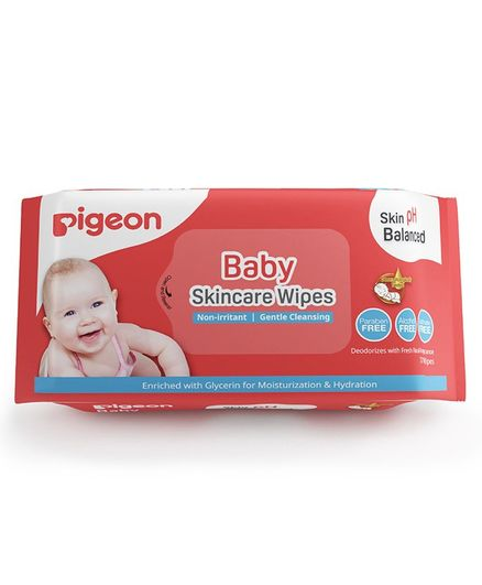 Pigeon Baby Skincare Wipes - 72 Pieces