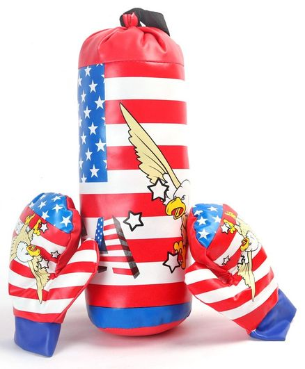 Kids Boxing Set Star Print - Red Blue