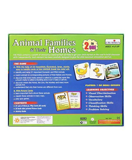 Creatives Animal Families & Their Homes Online India, Buy Board Games for  (4-8 Years) at FirstCry com - 35958