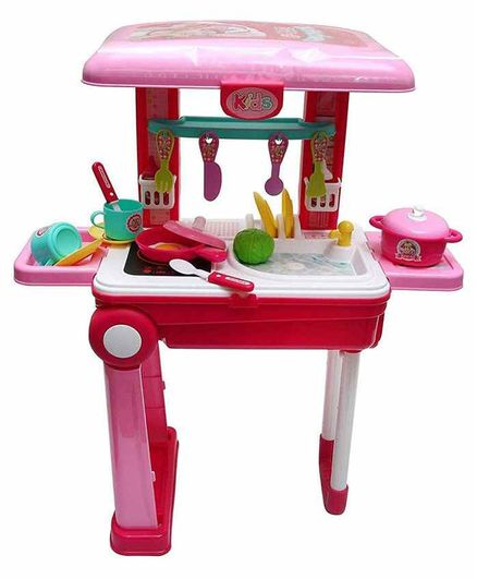 Muren Little Chef Kitchen Set with Trolly Bag - Pink