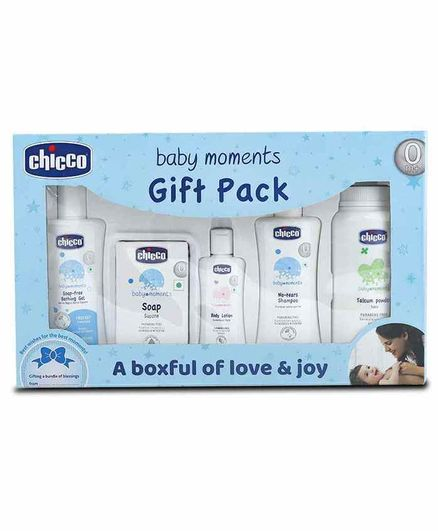Chicco First Cuddle Baby Gift Set - Blue