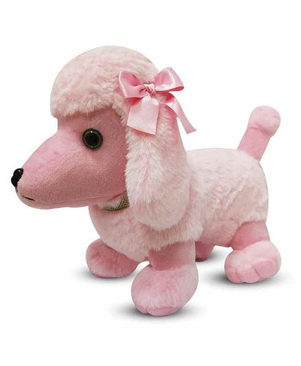 Webby Cute Poodle Puppy Plush Toy Pink - Length 40 cm