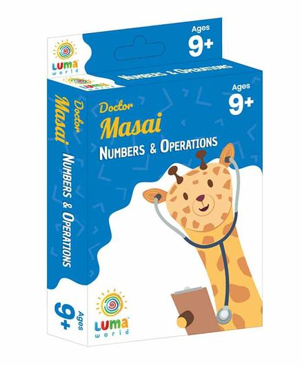 Luma World Educational Maths Flash Cards Numbers and Money Theme Pack of 51 - Blue