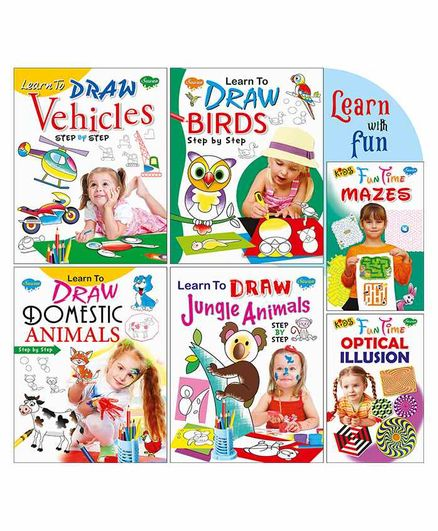 Sawan Learn with Fun Activity Books Combo Set of 6 - English