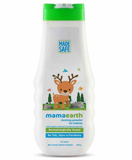 mamaearth Dusting Powder with Organic Oatmeal & Arrowroot Powder for Babies - 300 g
