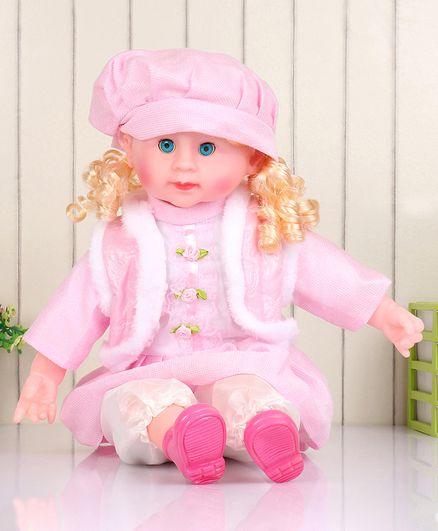 ToyMark Fashion Doll with Music Pink - Height 52 cm