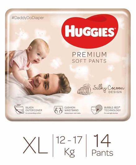 Huggies Premium Soft Pants Extra Large Size Diapers - 14 Pieces