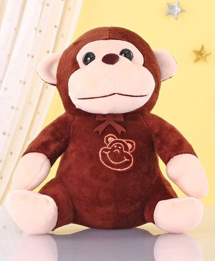 Zoe Monkey Soft Toy Brown - Height 20 cm
