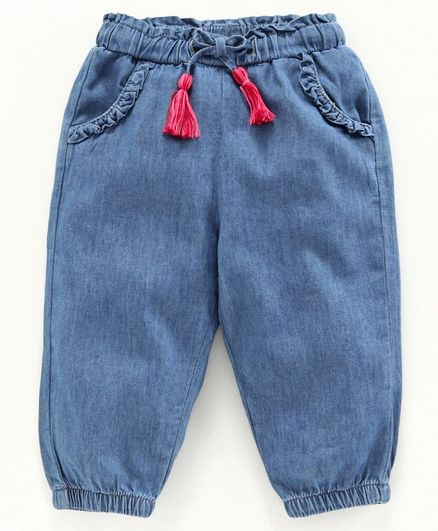 Babyoye Full Length Solid Pant - Blue
