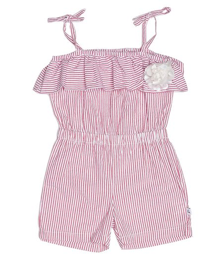 The Sandbox Clothing Co Sleeveless Striped Jumpsuit - Pink