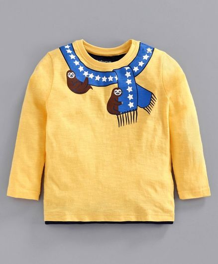 Babyoye Cotton Full Sleeves Tee Koala Print - Yellow
