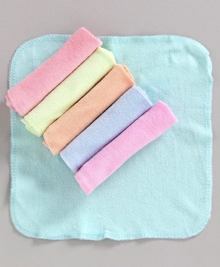 Cucumber Hand & Face Towels Pack of 6 - Multicolor