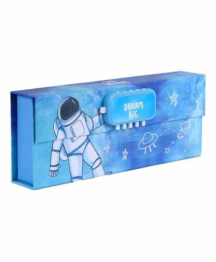 Passion Petals Astronaut Pencil Box with Lock Code - Blue