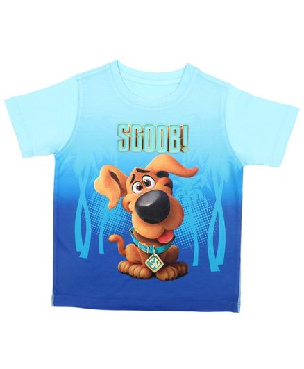 Scooby-Doo By Crossroads Half Sleeves Scooby Print Tee - Blue
