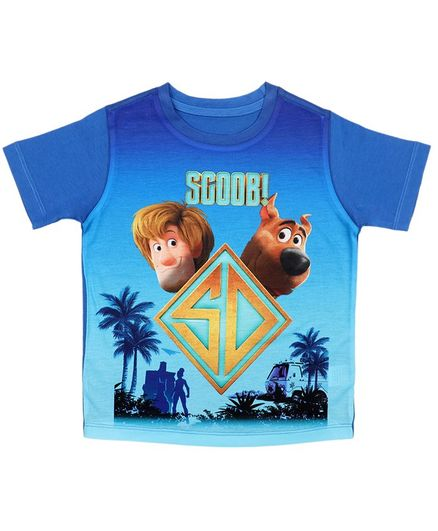 Scooby-Doo By Crossroads Half Sleeves Character Print Tee - Blue