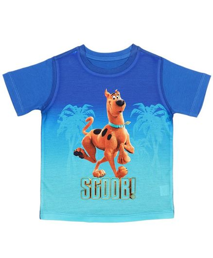 Scooby-Doo By Crossroads Half Sleeves Scoob Print Tee - Blue
