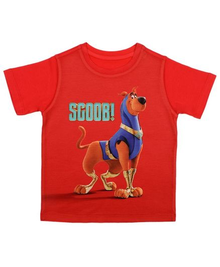 Scooby-Doo By Crossroads Half Sleeves Scoob Print Tee - Red