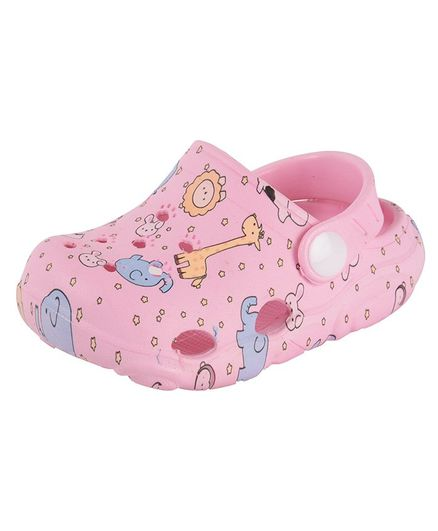 Yellow Bee Animal Print Clogs - Pink