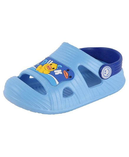 Yellow Bee Duck Design Detailing Sandals - Light Blue