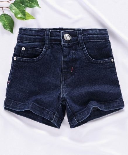 Rassha Solid Shorts - Blue