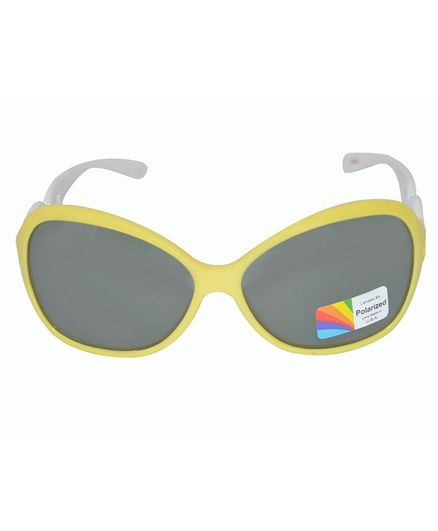 Spiky 100% UV Protected Polarized Sunglasses With Case  - Yellow