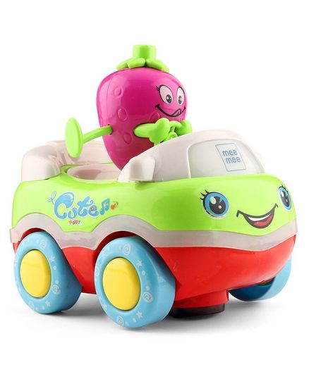 Mee Mee Bump N Go Fruity Car - Green Purple