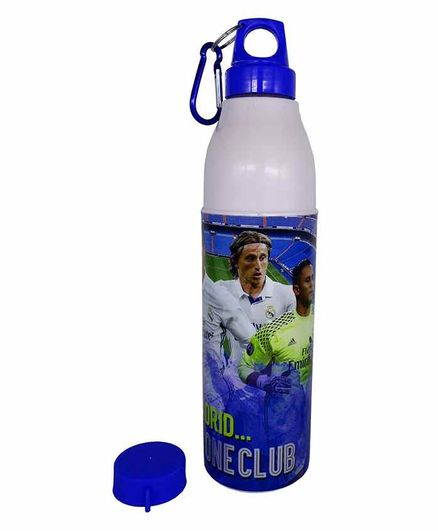 Funcart Insulated Water Bottle Real Madrid Print Blue White - 600 ml
