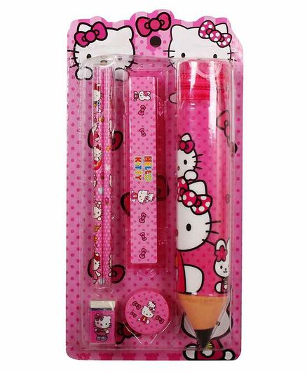 Funcart Hello Kitty Stationary Set Pink Pack of 1 - 6 Pieces