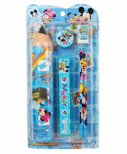 Funcart Mickey & Minnie Mouse Stationary Set Blue Pack of 1 - 6 Pieces