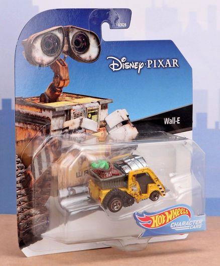 Disney Pixar Die Cast & Free Wheel Wall E Toy Car - Yellow