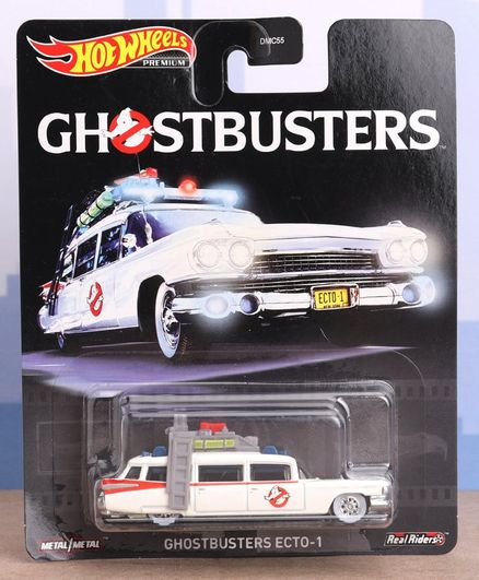 Hot Wheels Die Cast Free Wheel Ghostbusters Ecto Toy Car - White